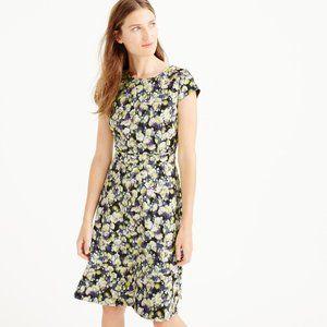J. CREW Cap Sleeve Dress Clover Floral Neon {FF29}